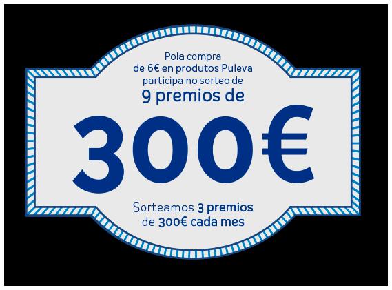 Sorteamos 3 premios de 300€ cada mes